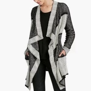 Lucky Brand  Pattern Cardigan Sweater S
